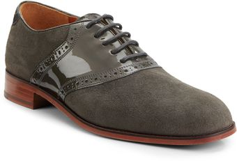 Florsheim By Duckie Brown Suede Leather Saddle Shoes - Lyst