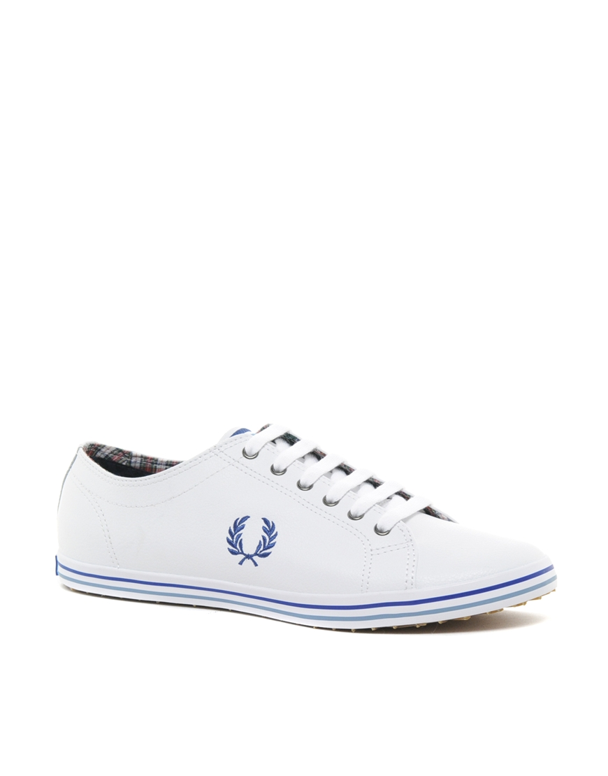 Kingston Leather Plimsolls In White - 200 Fred Perry 7x6c7S