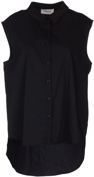 Ganni Sleeveless Shirt - Lyst