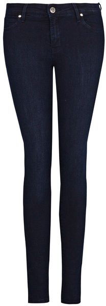Mango Super Slim Fit Dark Blue Jeans - Lyst