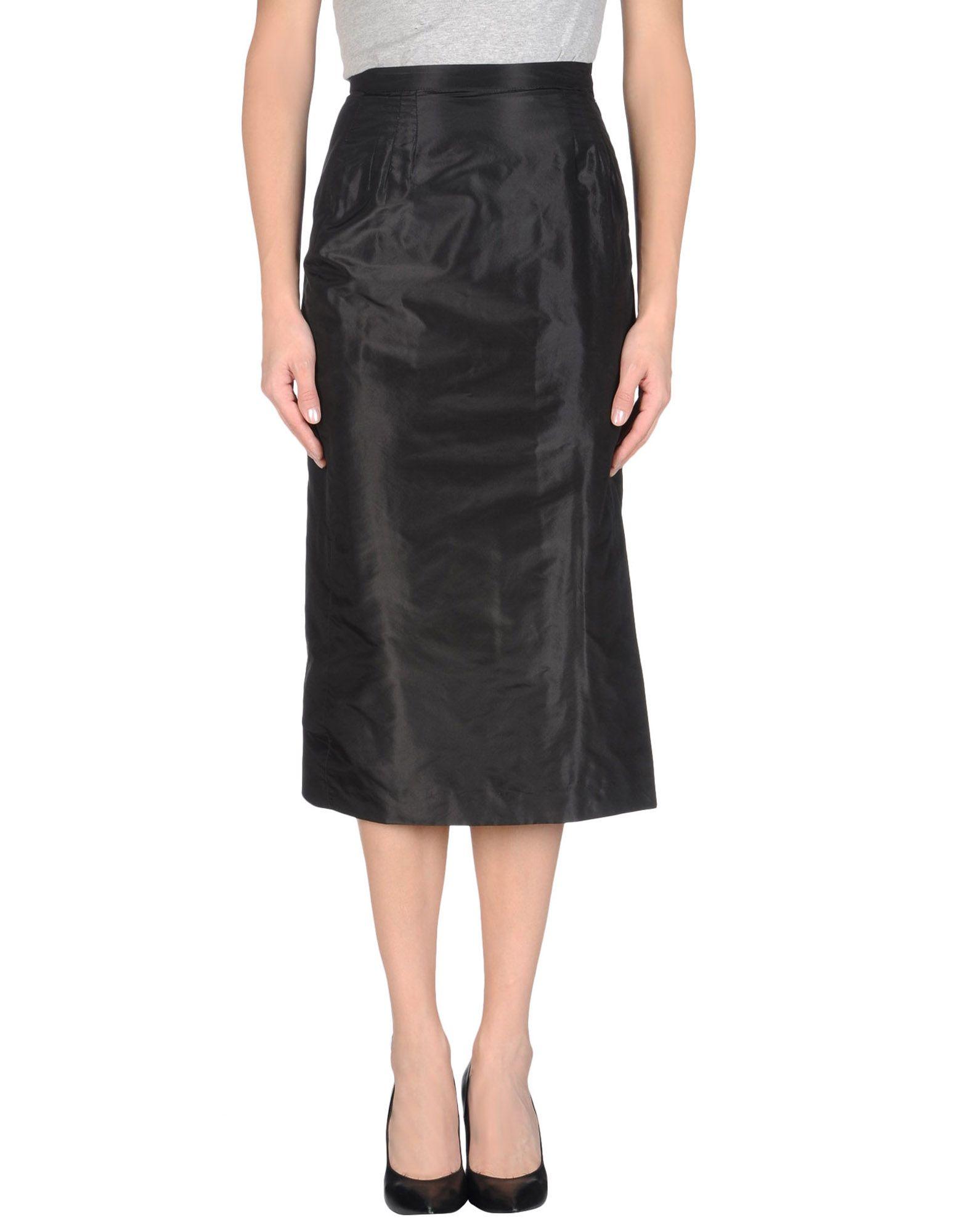 Maurizio pecoraro mid length skirt in black lyst for Maurizio pecoraro shop on line