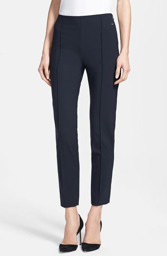 Max Mara Amadrid Side Zip Skinny Ankle Pants - Lyst