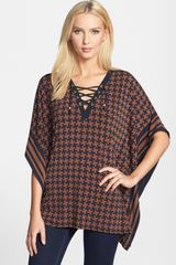 Michael by Michael Kors Laceup V-neck Tunic - Lyst