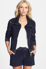 Michael by Michael Kors Zip Front French Terry Jacket - Lyst