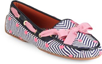Missoni Polka Dot Stripe Knit Loafers - Lyst