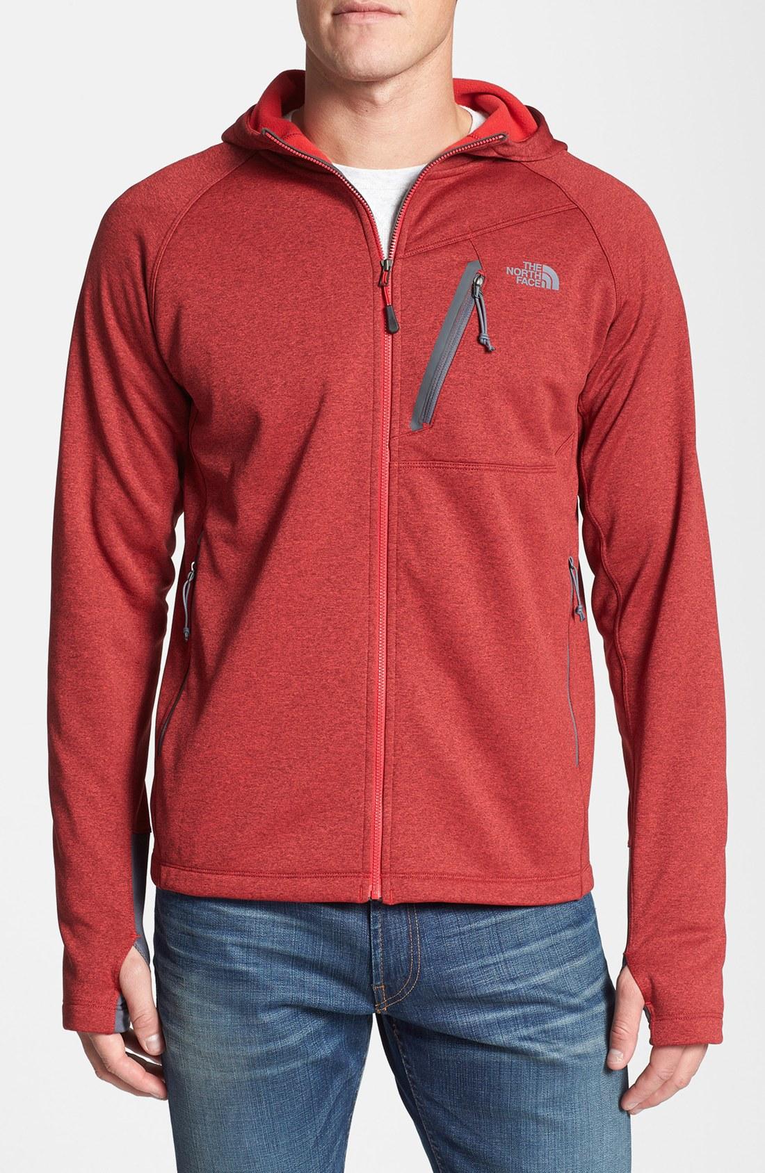 Red zipper hoodie