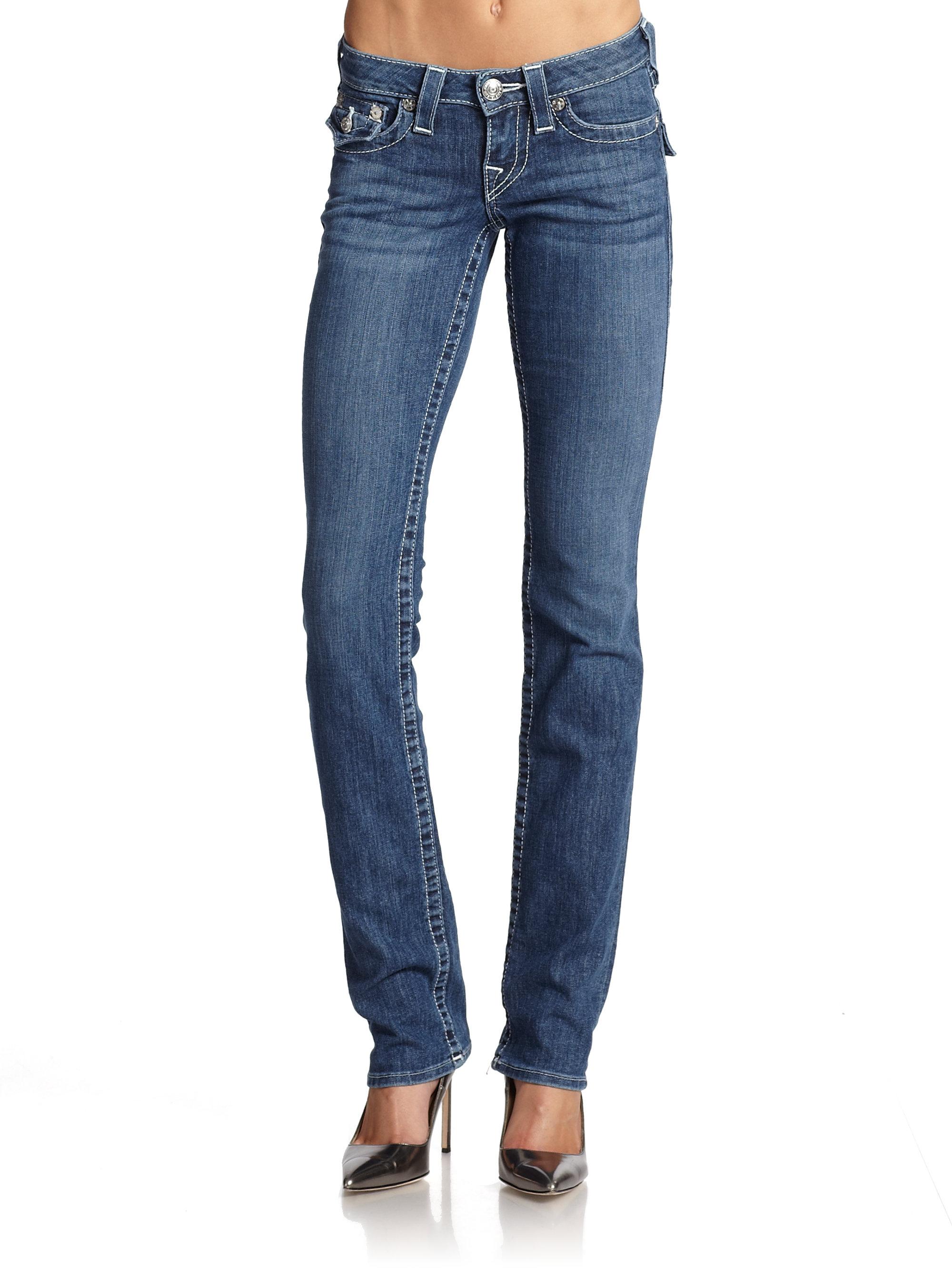 true religion flap pocket straight leg jeans in blue lyst