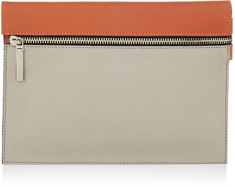 Victoria Beckham Small Zip Pouch in Twotone Leather - Lyst