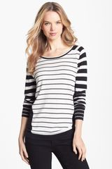 Vince Camuto Mixed Stripe Colorblock Pullover - Lyst