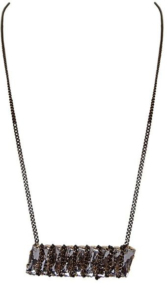 Ziba Punkd Stone Chain Wrapped Necklace - Lyst