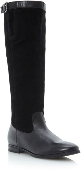 Dune Tags Wide Shaft Rider Boots - Lyst