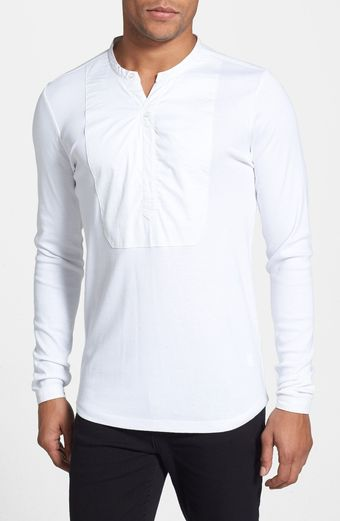 G-star Raw Admiral Granddad Bibbed Long Sleeve Henley - Lyst