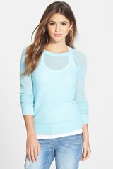 Halogen Open Stitch Cashmere Sweater - Lyst