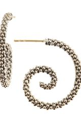 Lagos Caviar Swirl Hoop Earrings - Lyst