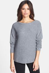 Nordstrom Collection Textured Stitch Cashmere Boatneck Sweater - Lyst