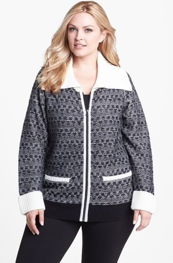 Sejour Front Zip Knit Jacket - Lyst