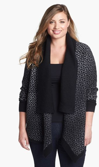 Sejour Shawl Collar Open Cardigan - Lyst
