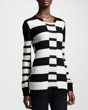 Stella McCartney Blockstripe Knit Top - Lyst