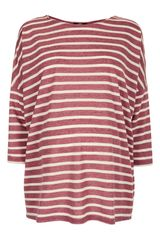 Topshop Stripe Drop Shoulder Maternity Tee - Lyst