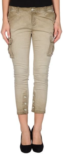 Twin-set Simona Barbieri Denim Capris - Lyst