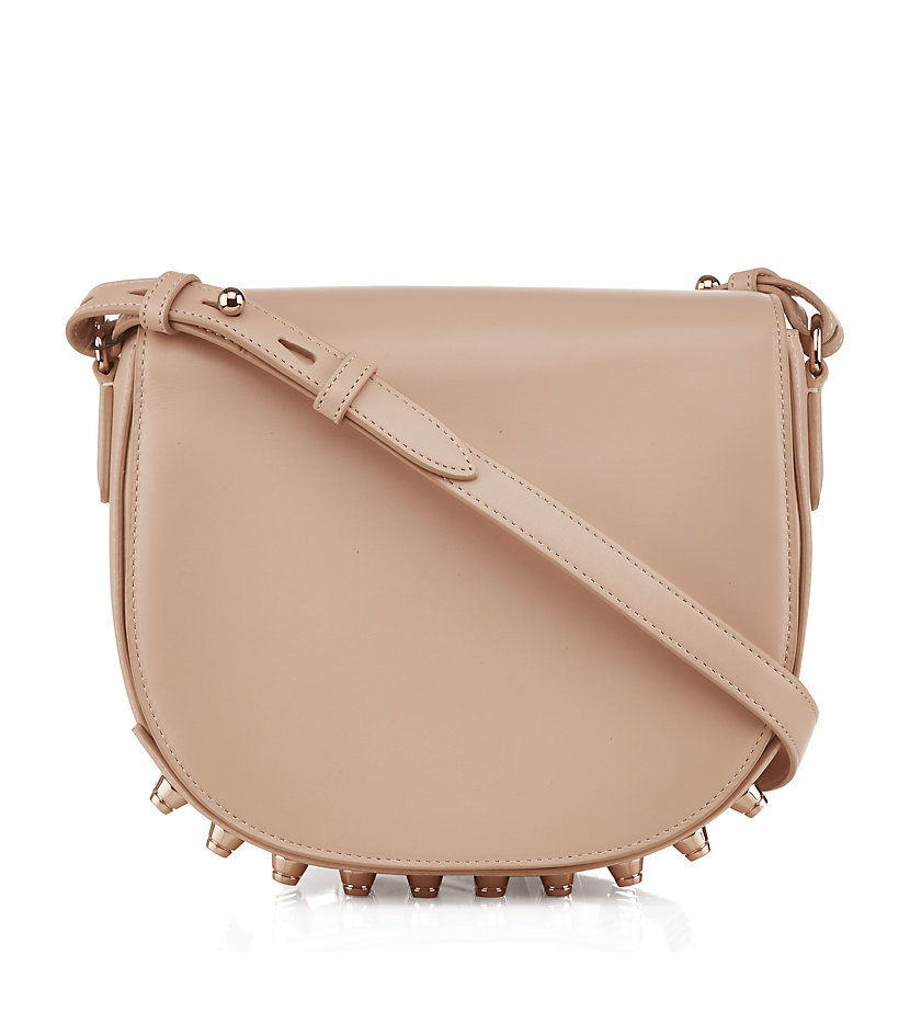Alexander wang Lia Rose Gold Stud Shoulder Bag in Pink | Lyst