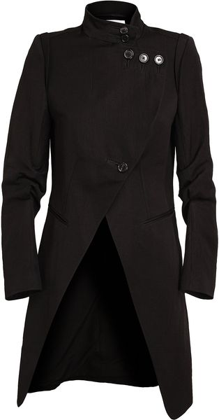 Ann Demeulemeester Tailored Cottonblend Long Coat - Lyst
