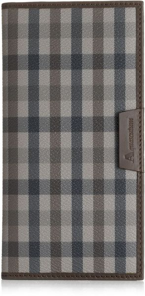Aquascutum Club Check Large Wallet - Lyst