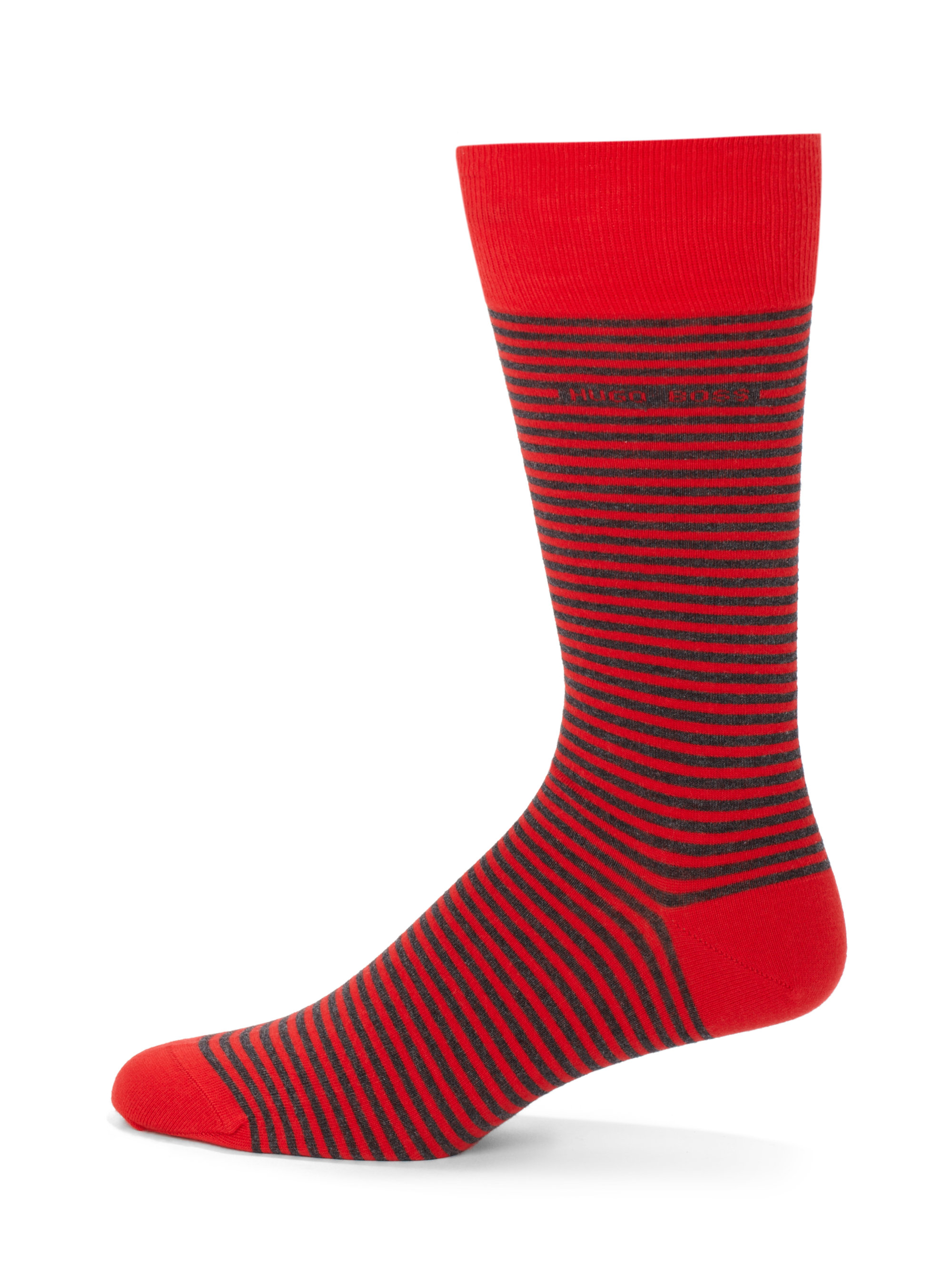 Boss By Hugo Boss Basic Stripe Dress Socks in Red for Men ...