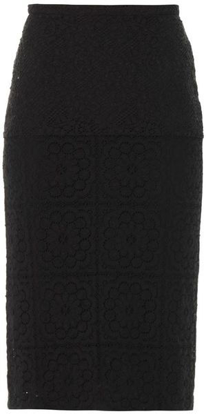 Burberry Prorsum Lace Pencil Skirt - Lyst