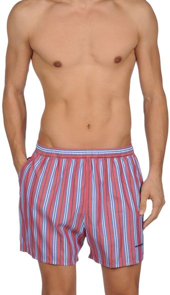 Burberry Swimming Trunks - Lyst