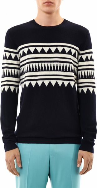 Chinti And Parker Aztecintarsia Cashmere Sweater - Lyst