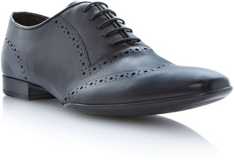 Dune Abstract Laser Brogue Wingtip Oxford - Lyst