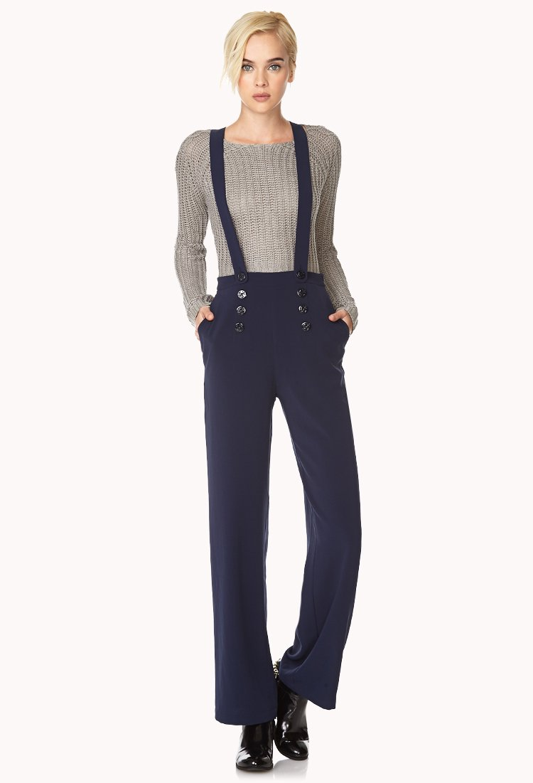 Forever 21 Overall Sailor Pants in Blue | Lyst