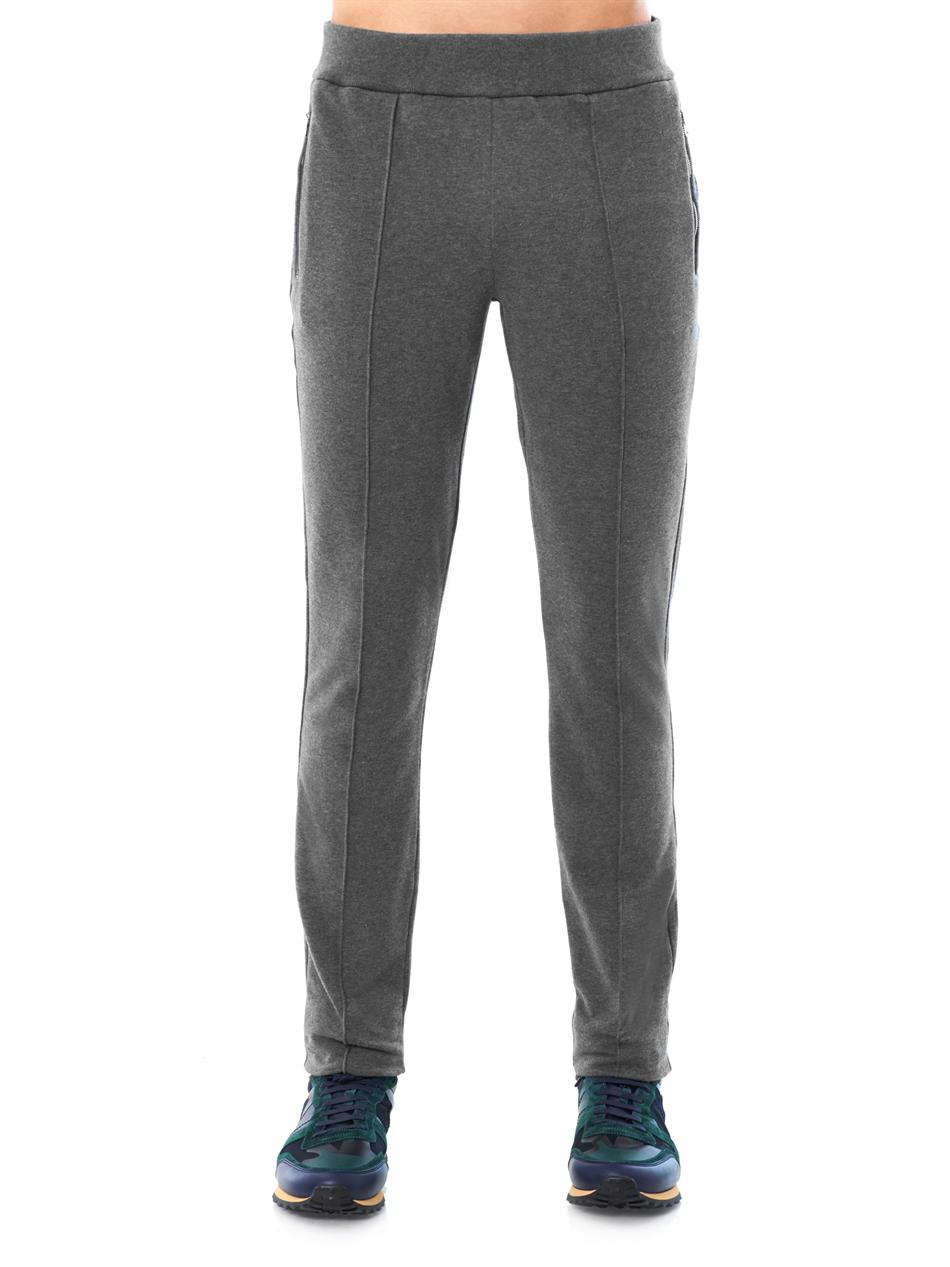 Lyst Gucci Jersey Track Pants In Gray For Men