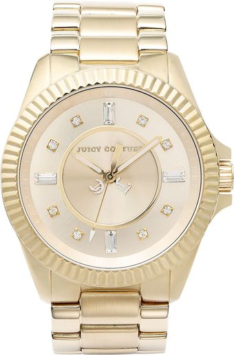 Juicy Couture Womens Stella Goldtone Stainless Steel Bracelet 40mm - Lyst