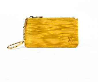 Louis Vuitton Preowned Yellow Epi Leather Coin Purse - Lyst