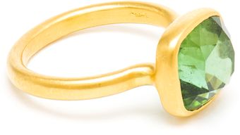 Marie-hélène De Taillac 22k Gold and Green Tourmaline Princess Ring - Lyst