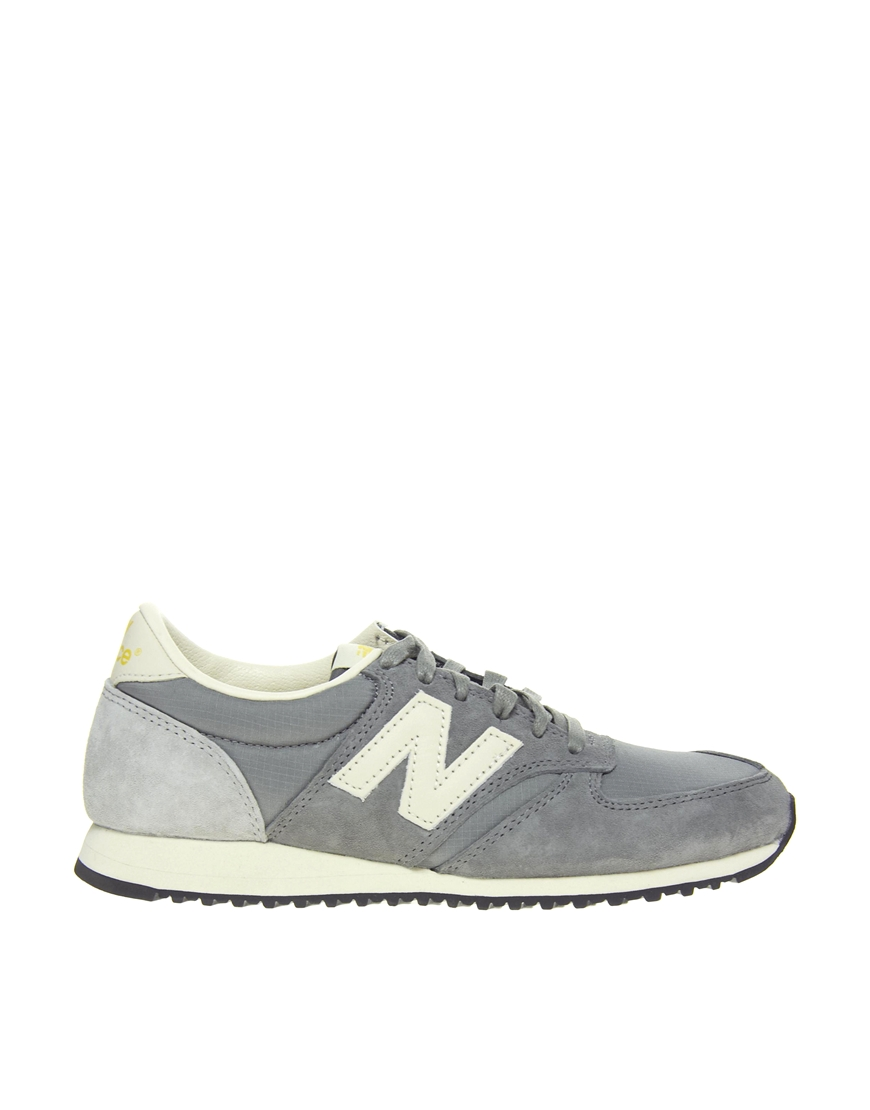 new balance 420 grey vintage trainers in gray lyst. Black Bedroom Furniture Sets. Home Design Ideas
