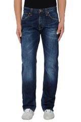 Nudie Jeans Denim Pants - Lyst
