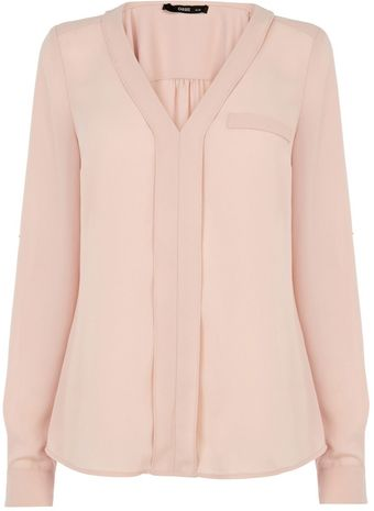 Oasis V Neck Blouse - Lyst