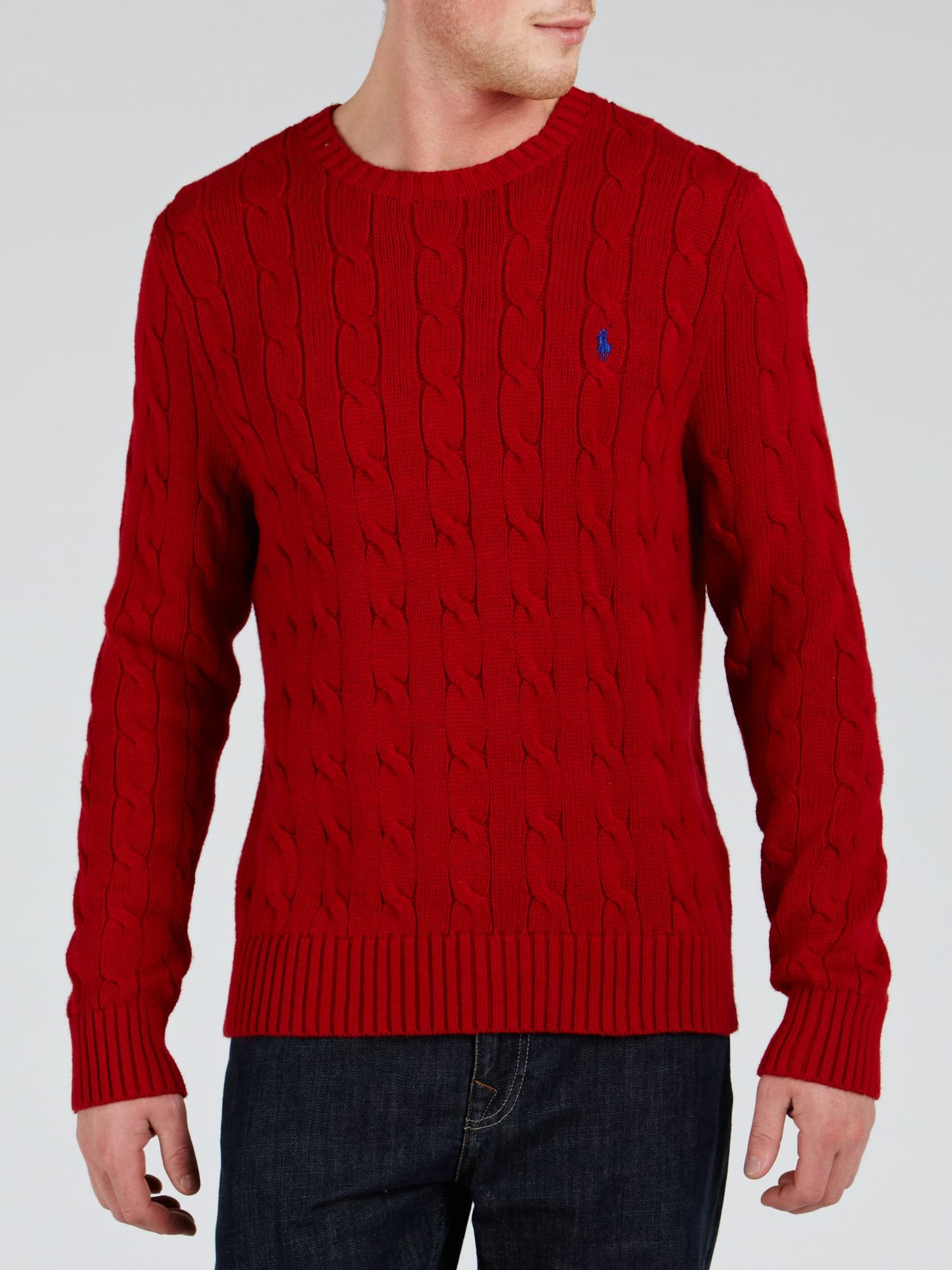 Polo Suéter Ralph con logo tejido Lauren de punto rojo qqfB4X
