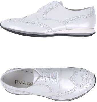 Prada Laceup Shoes - Lyst