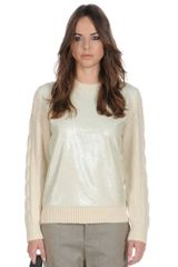 Stefanel Sequin Sweater - Lyst