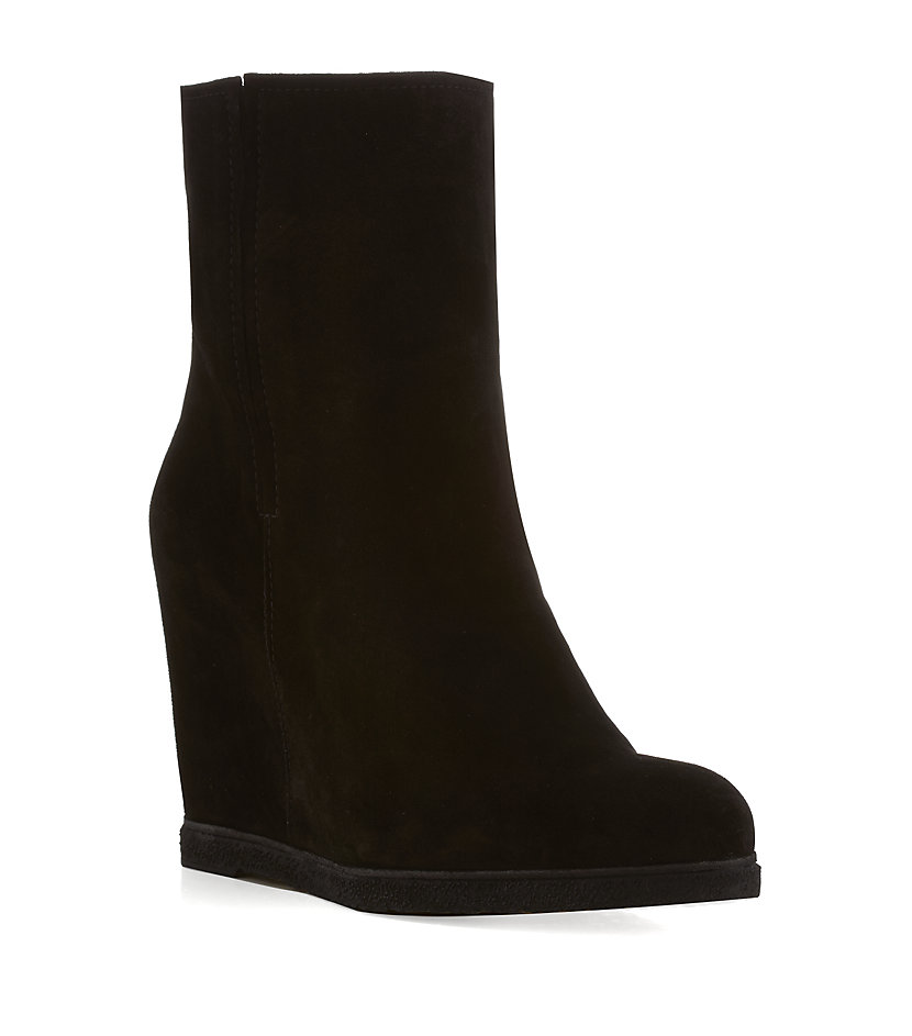 stuart weitzman bootscout wedge boot in black lyst