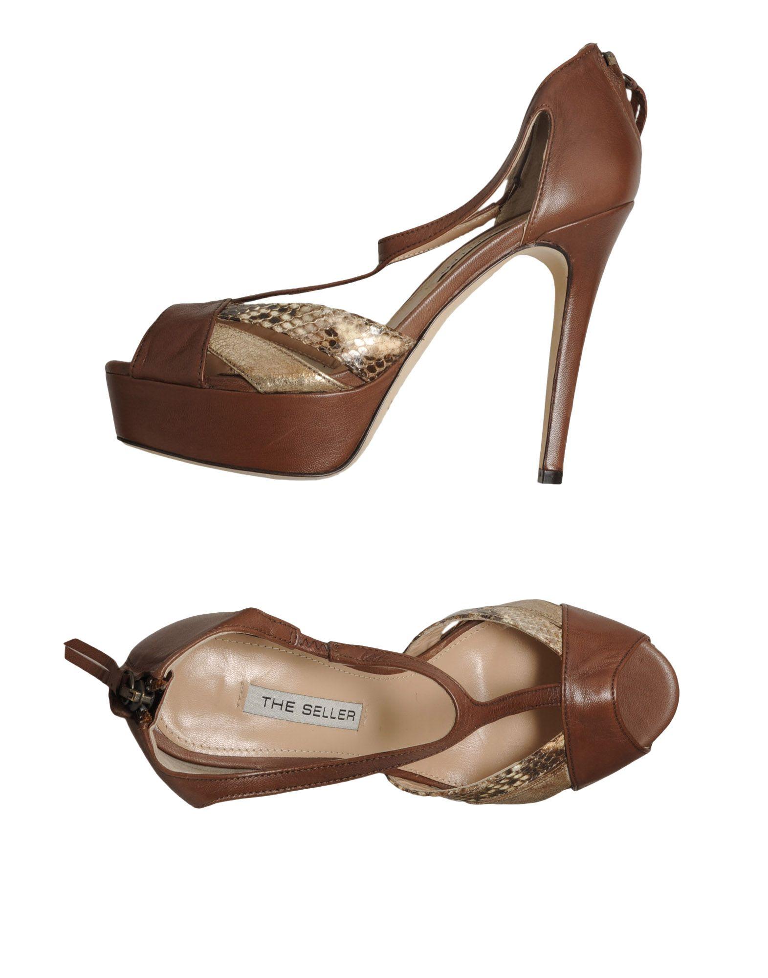 the seller platform sandals in brown save 67 lyst