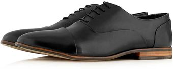 Topman Black Leather Lace Up Shoes - Lyst