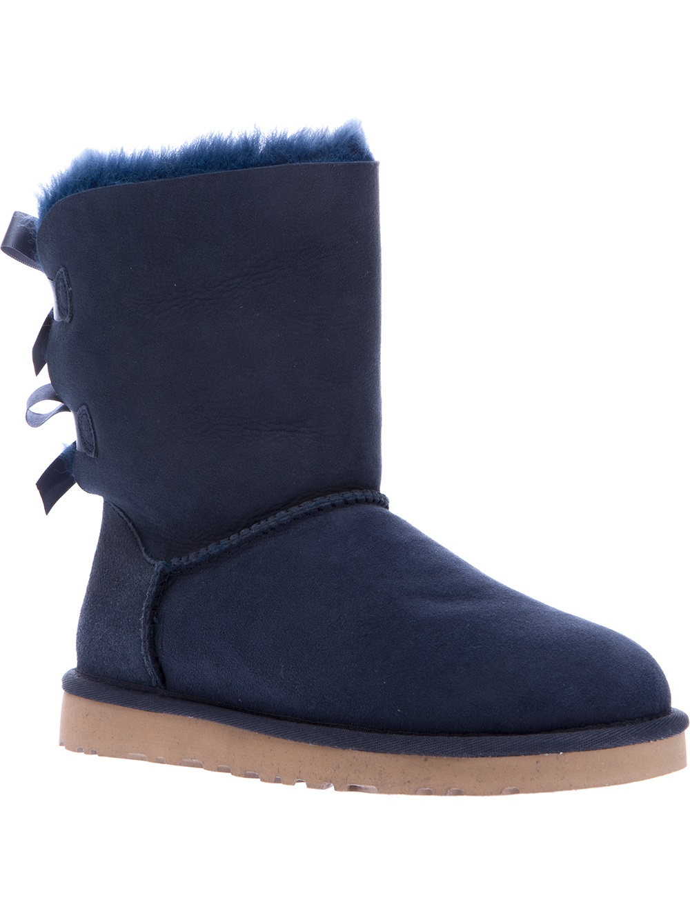 ugg bailey bow boot in blue navy lyst