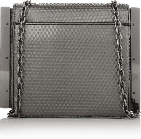 Zac Zac Posen Loren Embossed Leather Mini Shoulder Bag In