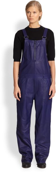 Acne Chagall Leather Overalls - Lyst