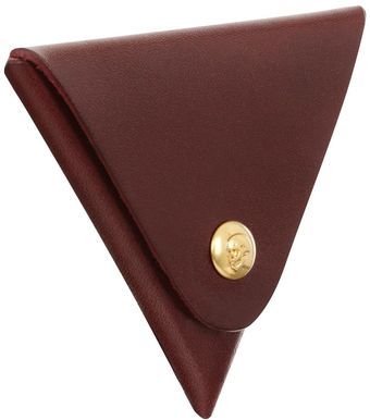 Alexander McQueen Triangular Skull Press Coin Purse - Lyst